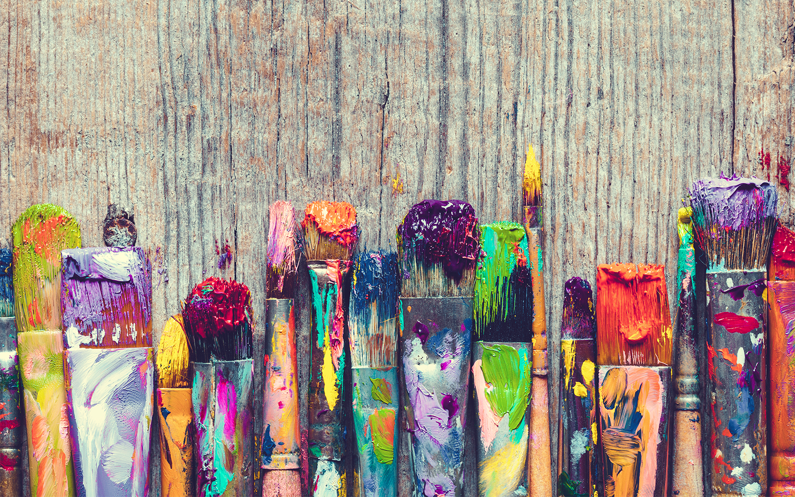 colorful art brushes