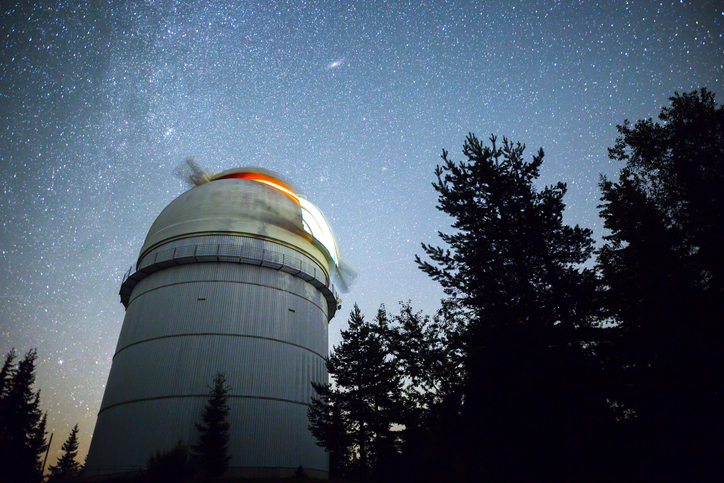 Observatory and the night sky