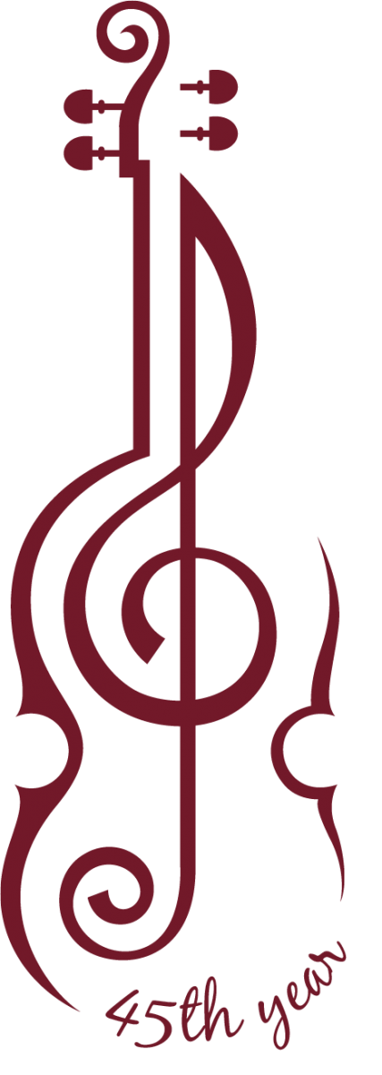 violin as 45th year logo